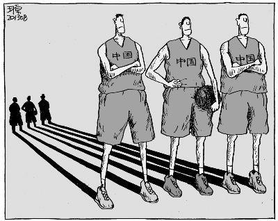 男生打篮球手绘图