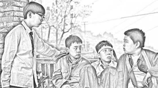 故事 手绘 解密/四个小伙伴素描图