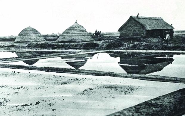 中德占时期阴岛的盐田
