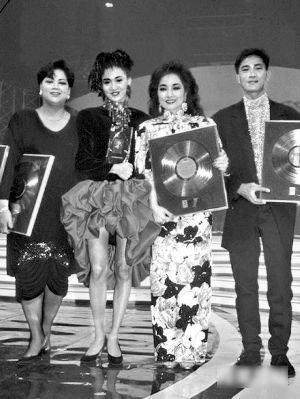 肥妈玛利亚、梅艳芳、徐小凤和陈百强在上世纪80年代,唱片都卖得很