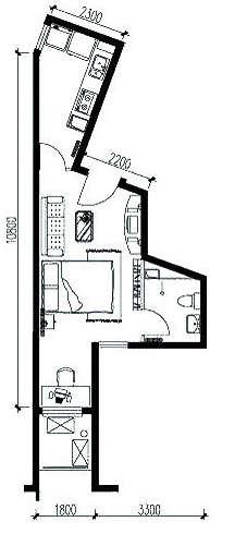 房屋设计cad平面图