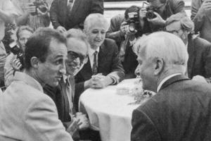 1993年布达佩斯高级研究所的开幕仪式