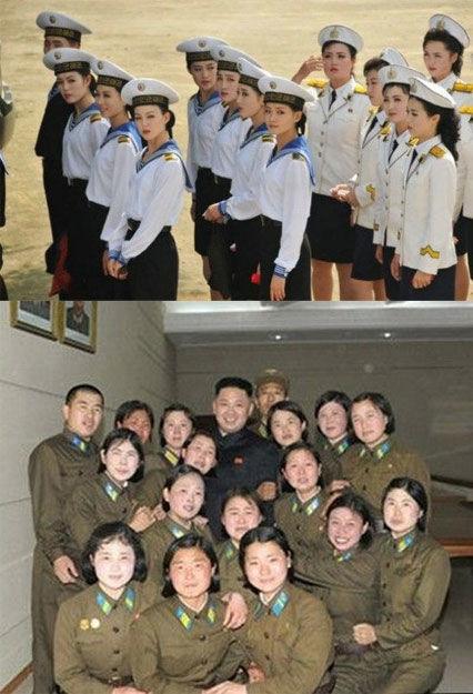 朝鲜海军文工团女兵曝光[高清大图]