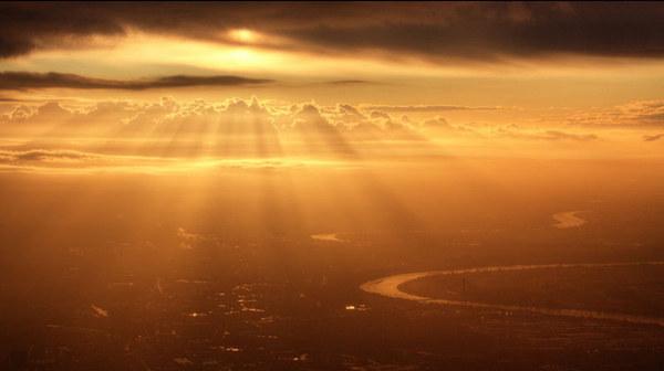 飞机窗外的绝妙风景