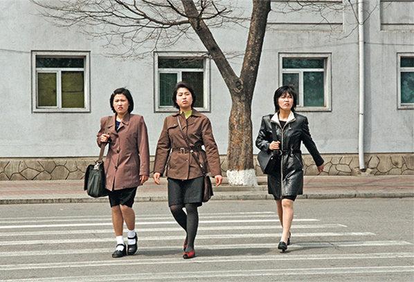 朝鲜平壤街头高清图片