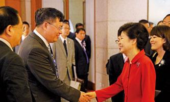 张玉良董事长与韩国首相朴槿惠