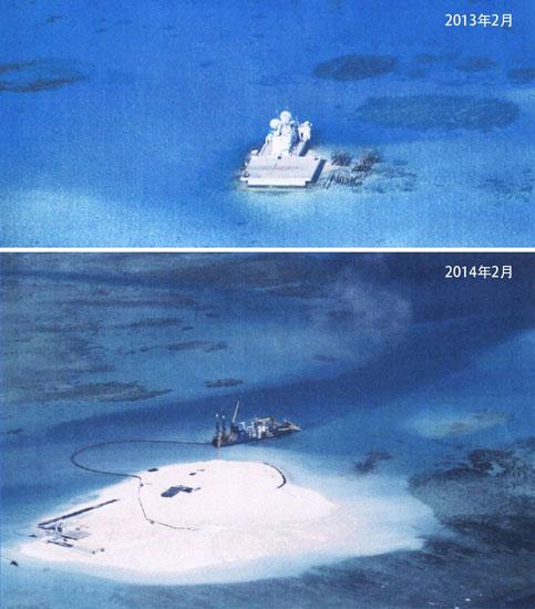 中国赤瓜礁填海 约17个足球场大--JL-2IA--凤凰