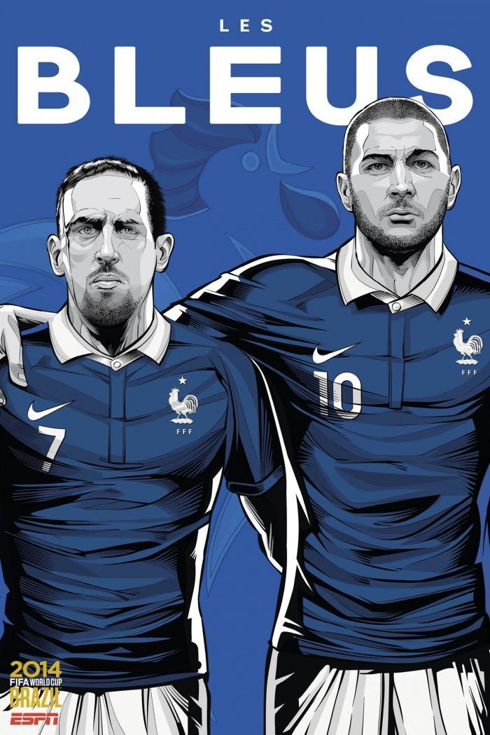 现在你必须为这两者尽力?-2014年世界杯各国家队海报