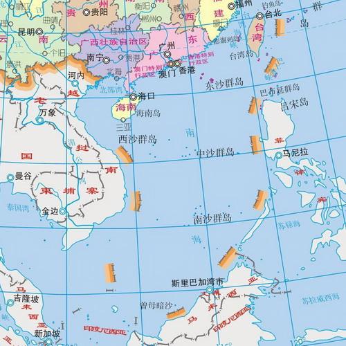 中国南海地图(资料图)