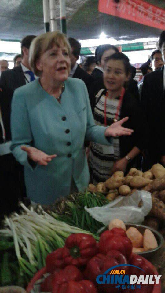 德国总理逛成都菜市场 - 南南 - 阳光南南(看新闻)
