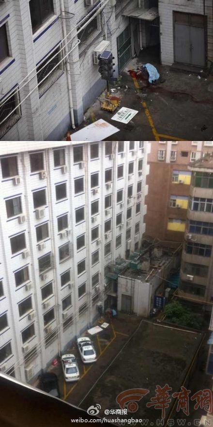 西安市大庆路莲湖交警大队一男子从六楼跳楼身亡 原因不明