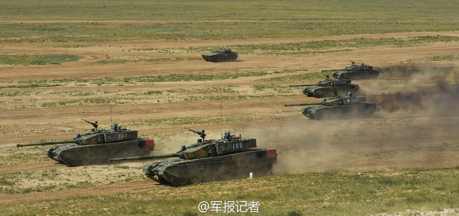 和平使命联合军演:最新99改型坦克发起冲锋(5/18) -  东方.旭 - 东方.旭的博客