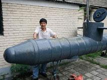 农民陶相礼:异想天开自制潜水艇
