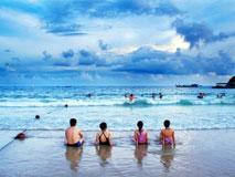 三亚:阳光沙滩海浪仙人掌