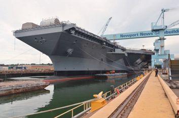 美国福特号堪称世界最先进航母