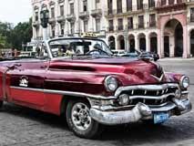 古巴风景线:经典美式老爷车之家