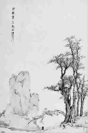 铅笔画梅花树步骤