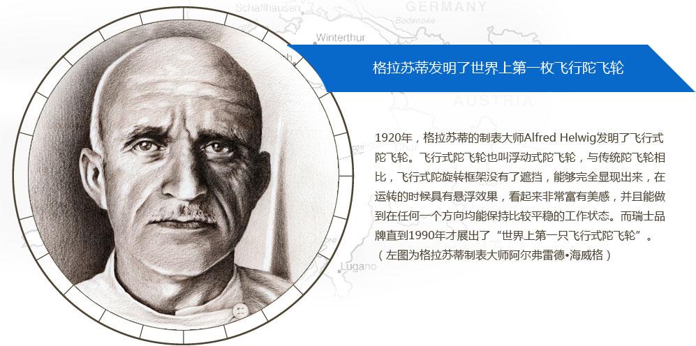 格拉苏蒂发明了世界上第一枚飞行式陀飞轮