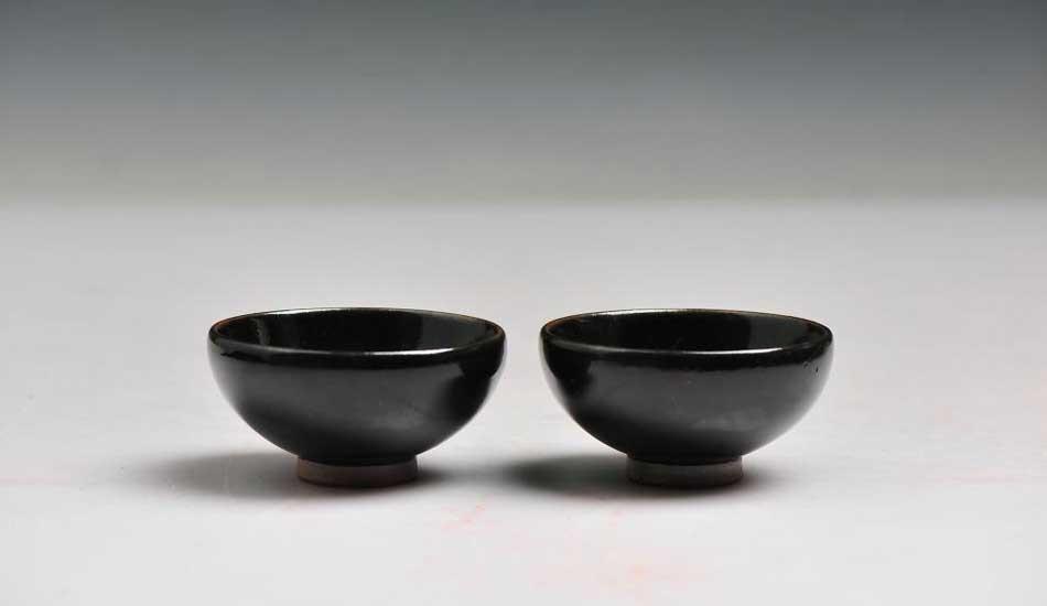 """作品名称:钧窑""""钧窑""""知秋""""茶盏"""