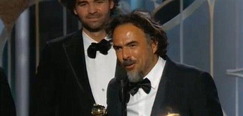 第72届金球奖颁奖 《鸟人》夺电影类最佳剧本奖
