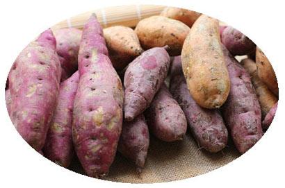 长斑的红薯