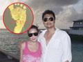 45岁刘若英高龄产子 微博晒爱子脚印