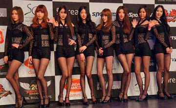 日本游戏举办格斗大赛 韩国众女星抢风头