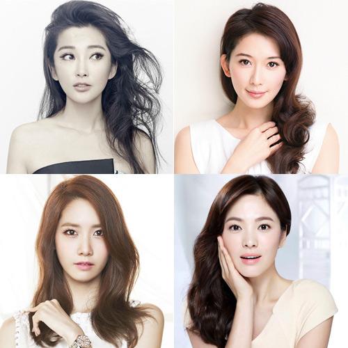 中韩女星都爱侧分简约气场满分
