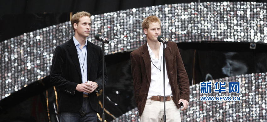 美国全国广播公司对王妃的两个儿子——威廉王子和哈里王子进行了