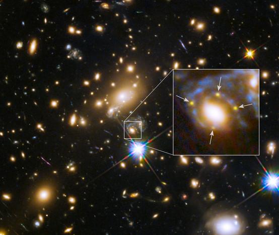 学家发现超新星神奇四重影像 原为引力透镜所