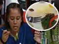 女孩吃掉整盘蟑螂获免费旅程