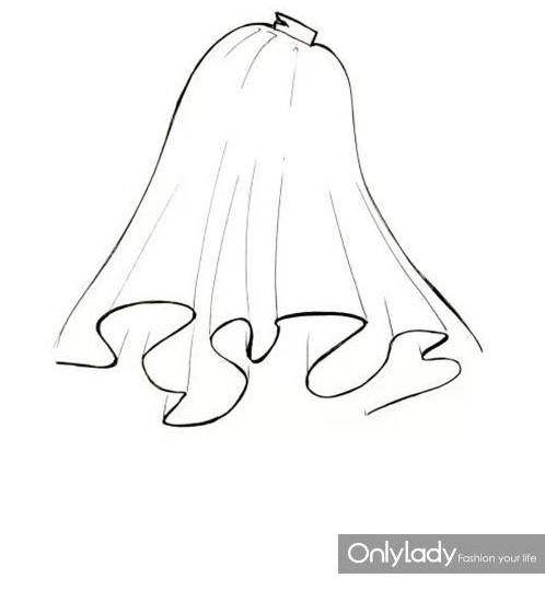 对称剪纸步骤图解画法裙子