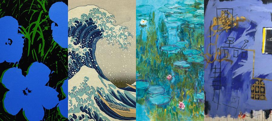 儿童水粉画樱花-蓝是颜色 更是信仰 28幅历史上蓝色的伟大画作