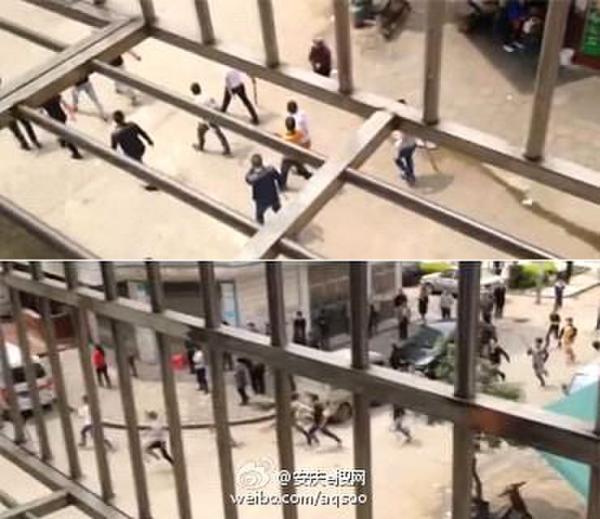 长沙街头大规模械斗 场面血腥似古惑仔电影