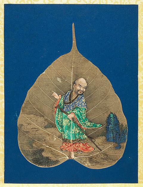 菩提叶彩绘十八罗汉 - 坤土的博客 - 坤土的博客