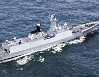 美舰抵近侦察中俄军演 运城舰为保密藏绝技