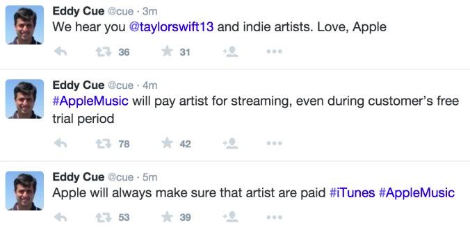 苹果妥协,将为Apple Music试听向艺人支付版税