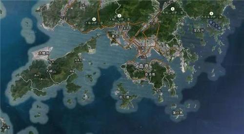 在卫星地图上,能清楚地看到香港星罗棋布的岛屿