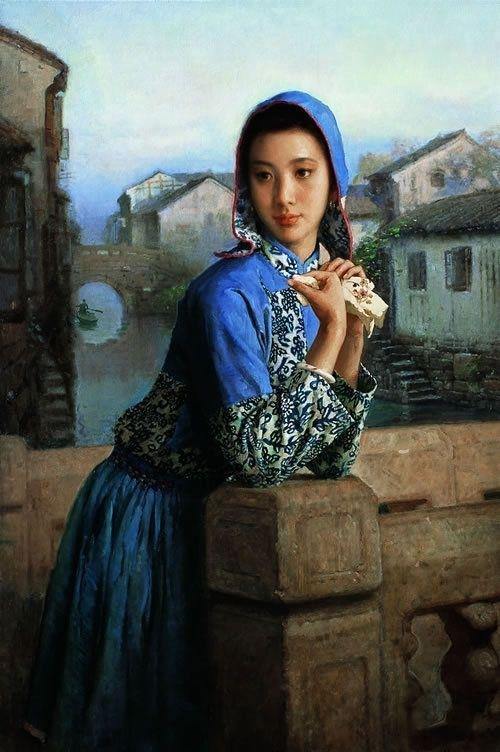 油画里的中国古典女性 - 雷石梦 - 雷石梦
