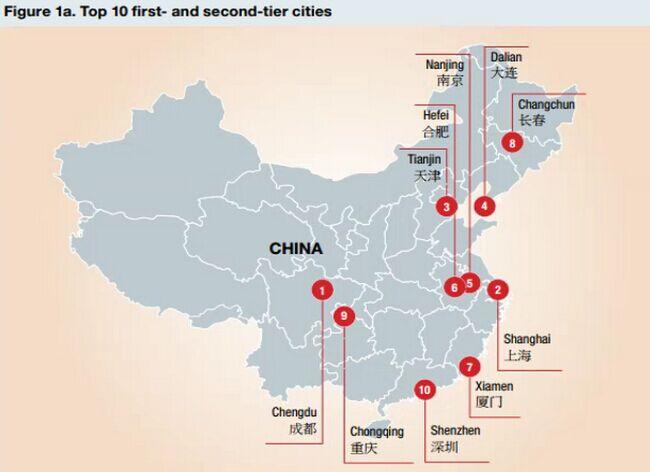 成都击败北上广成中国表现最佳城市 名单上有你家吗