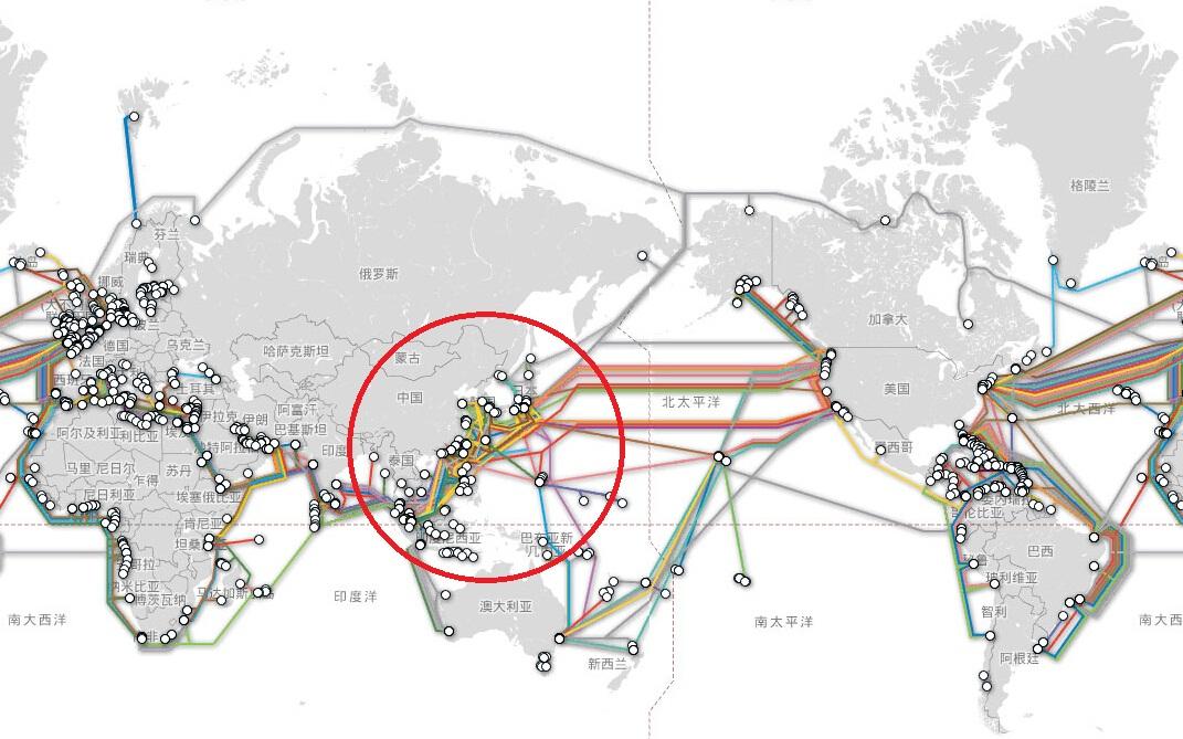 而在第1,2岛链内,更不乏关乎美国亚太信息站体系的关键光缆,如果中国