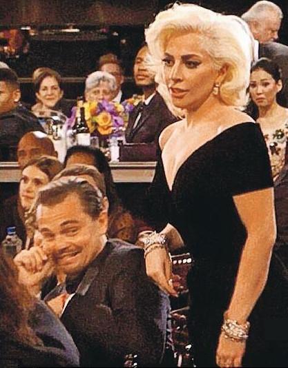 [明星爆料]传Lady Gaga未婚夫金球派对上要莱昂纳多道歉