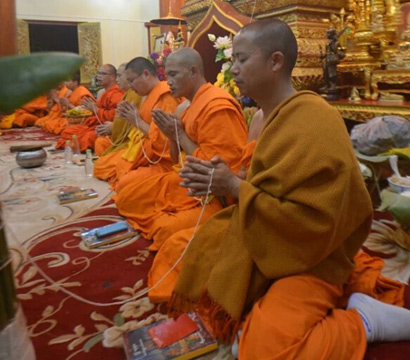 西双版纳总佛寺6长老升座忏悔仪式