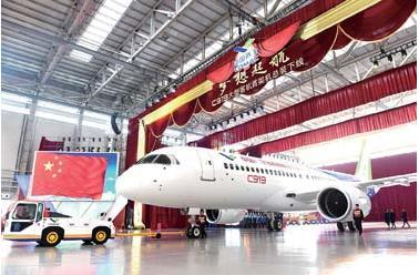 首架国产大飞机c919下线:三大核心南京造(图)
