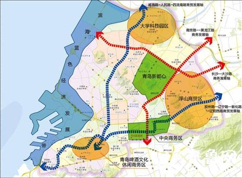 青岛市北区现代产业园区空间布局图