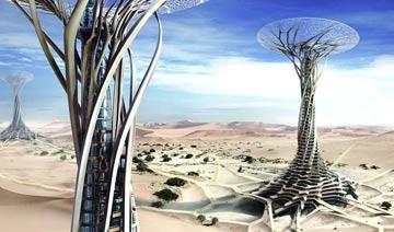 2014摩天大楼盛行 沙漠中的3D打印建筑十分显眼