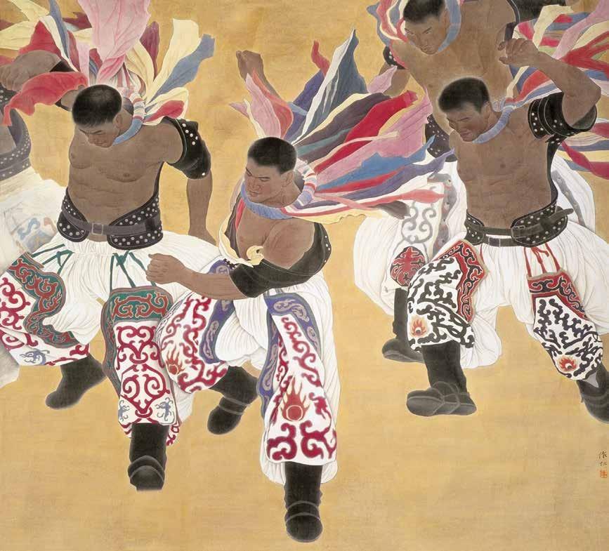 草原风 王作仁 /  Wind of the Plain Wang Zuoren / 183cm×202cm 2008年北京奥林匹克美术大会国画金奖