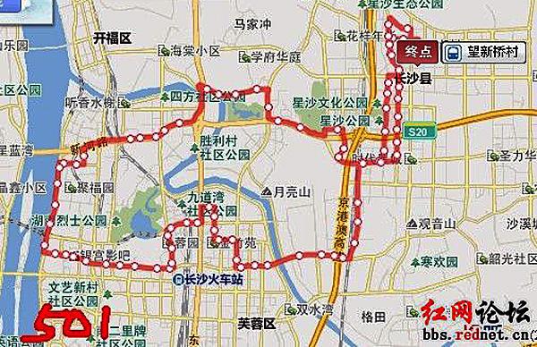 (长沙501路公交线路图)-网友细数长沙 贪食蛇 状公交线路 呼吁更合图片