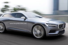 沃尔沃猎装版概念车假想图曝光 3月发布
