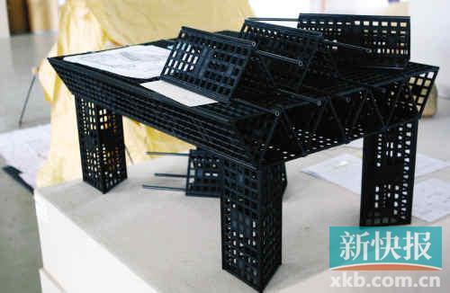 因此是一种模具家具,桌子的大小